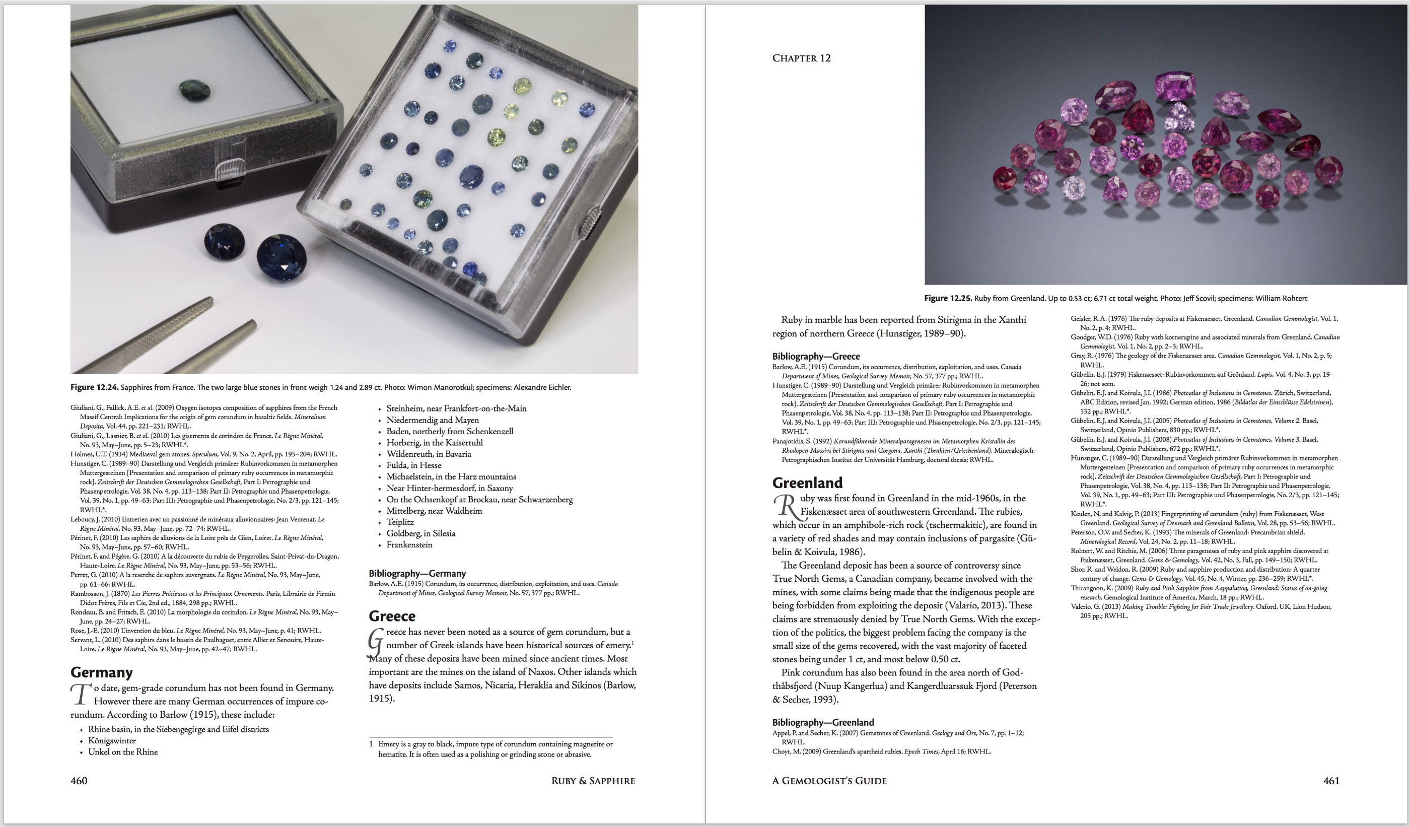 Ruby & Sapphire: A Gemologist's Guide – World Sources: France & Greenland