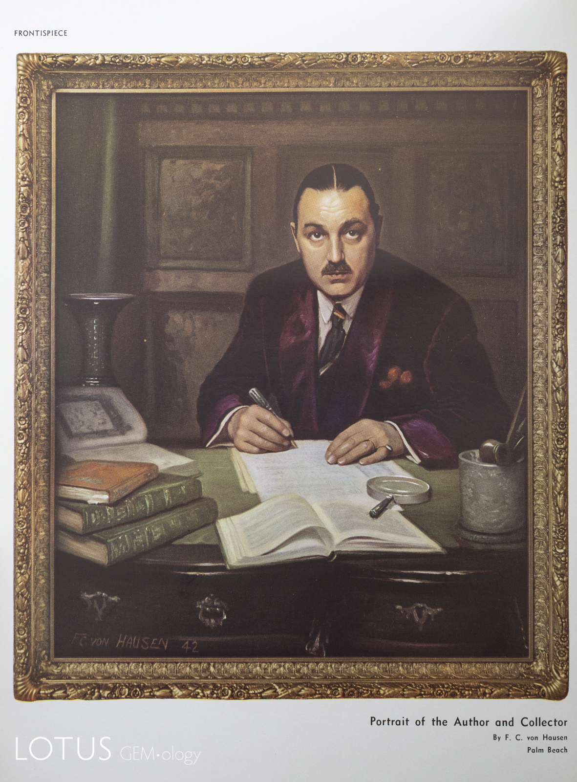 Portrait of Charles Stanley Nott from his 1942 book, Chinese Jades in the Collection of Stanley Charles Nott.