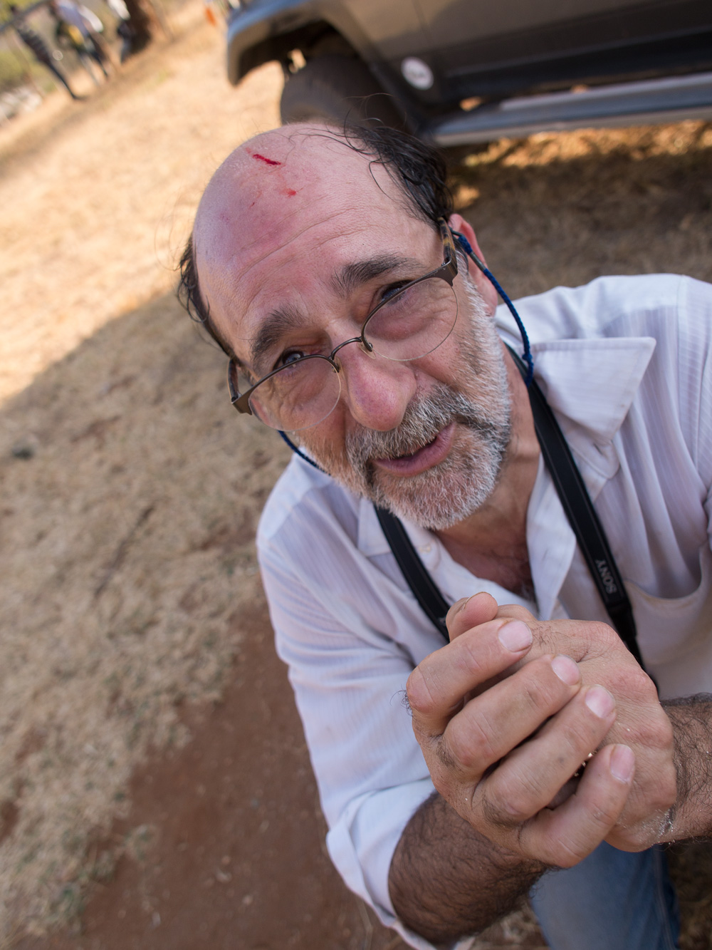 Dana Schorr, bleeding head liberal. Click on the image for a larger view. Author's photo, Longido, Tanzania, 2013
