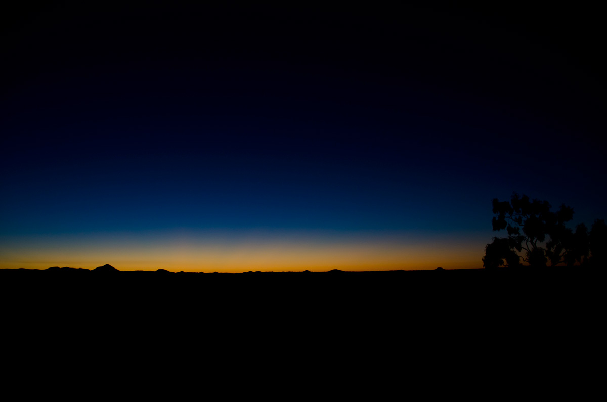 Twilight in Australia's outback