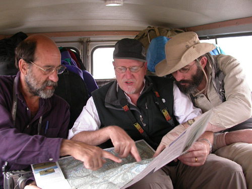 Examing the map in Tajikistan