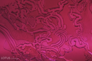 Drippy, melty fingerprints are a hallmark of flux heated corundum.