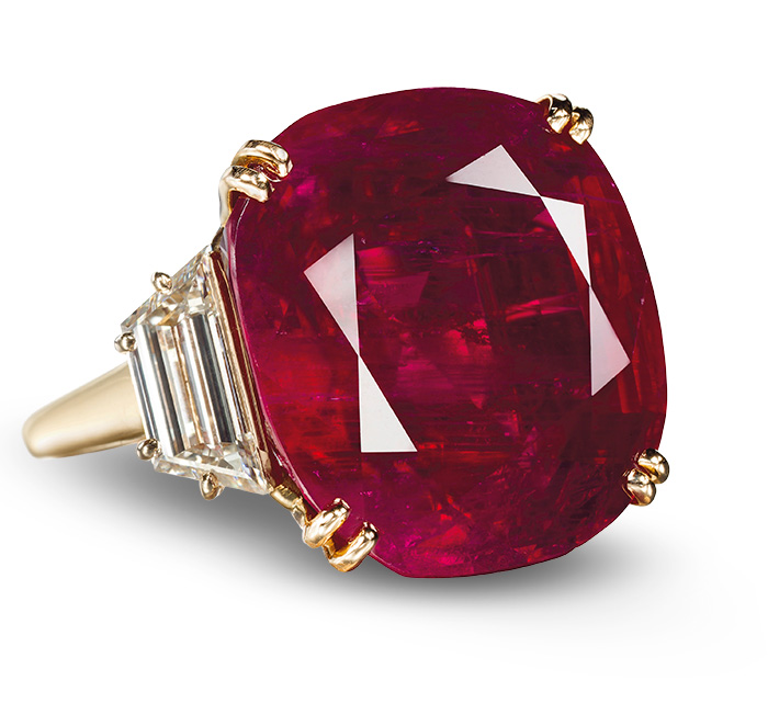 Custom Burma Ruby Ring: Ruby, Sapphire & Spinel Auction Records • Under The Hammer