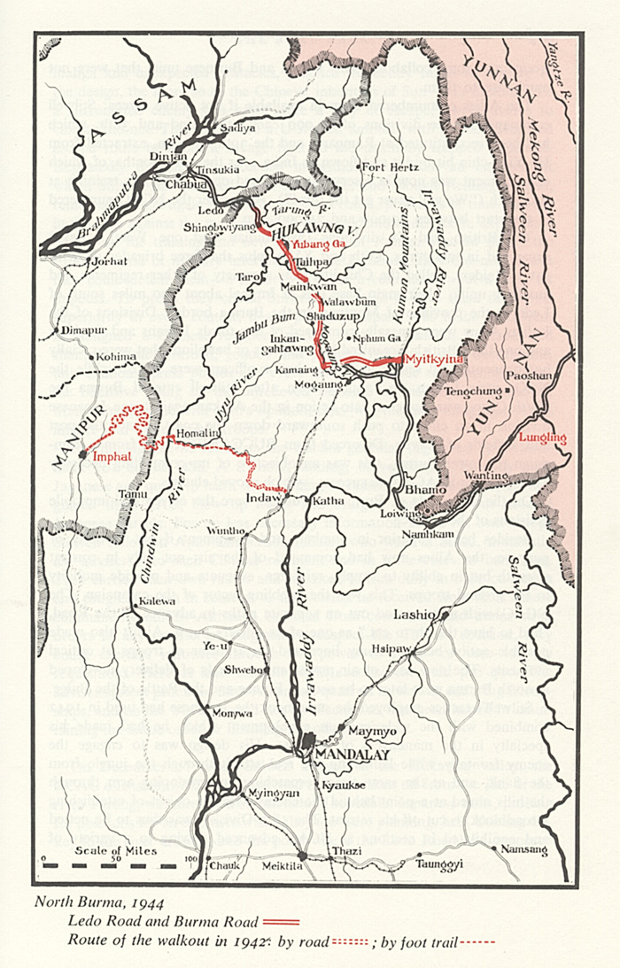 Map of the Stillwell Road. From Tuchman, 1970.