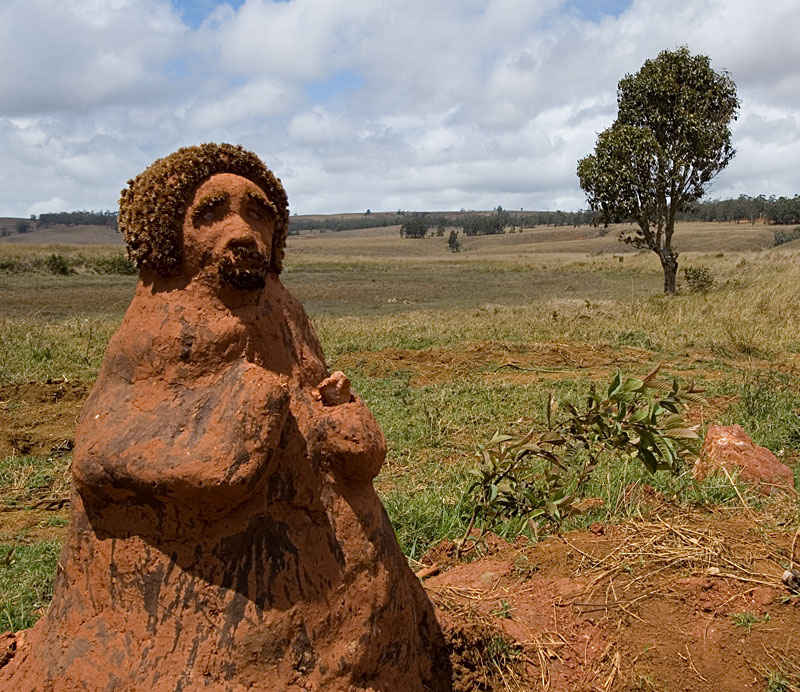 A mysterious clay figure on the road just south of Andilamena. Photo: Richard W. Hughes
