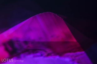 Polysynthetic twinning in a ruby from Vietnam's Luc Yen district.